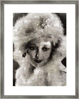 Thelma Todd, Vintage Actress By Mary Bassett Framed Print