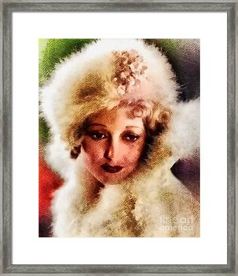 Thelma Todd, Vintage Actress Framed Print by John Springfield