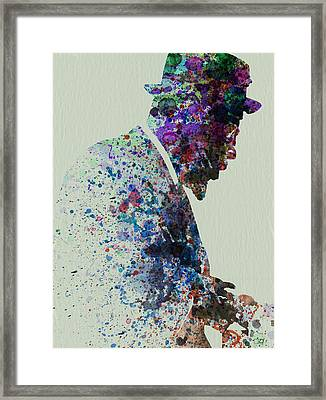 Thelonious Monk Watercolor 1 Framed Print by Naxart Studio