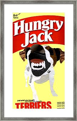 Them Hungry Jack Terriers Framed Print by Nicholas Tullis