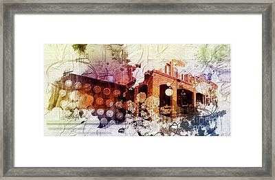 Them Olden Days Framed Print