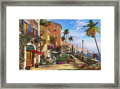 Themed Terrace Framed Print