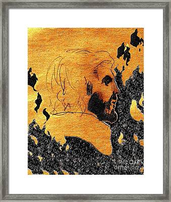 Then How Are You Turned Away From Your True Center Framed Print