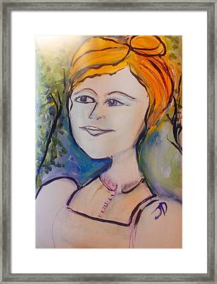 Then One Day She Went Outside  Framed Print by Judith Desrosiers