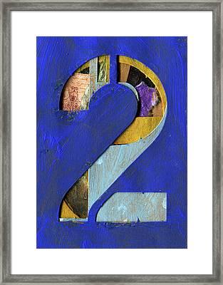 Thenumber 2 Framed Print