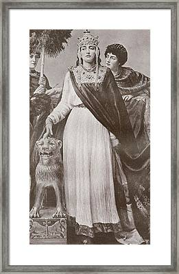 Theodora I, C. 500 - 548. Empress Of Framed Print by Vintage Design Pics