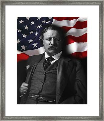 Theodore Roosevelt 26th President Of The United States Framed Print by Daniel Hagerman