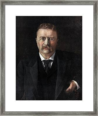 Theodore Roosevelt Framed Print by American School