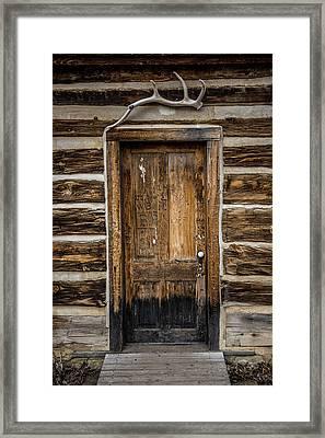 Theodore Roosevelt Cabin Door Framed Print by Paul Freidlund