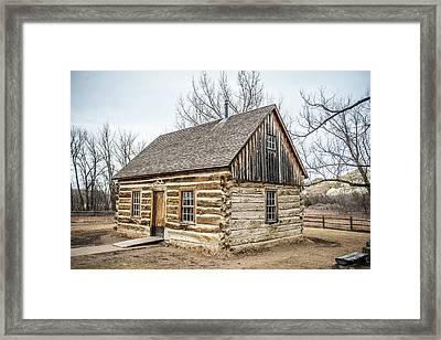 Theodore Roosevelt Cabin End Framed Print by Paul Freidlund