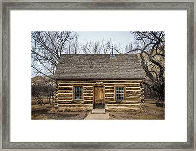 Theodore Roosevelt Cabin Framed Print by Paul Freidlund