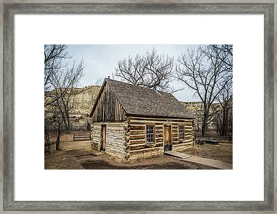 Theodore Roosevelt Cabin Side Framed Print by Paul Freidlund