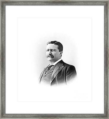 Theodore Roosevelt Former President Of The United States Framed Print by Celestial Images