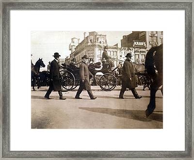 Theodore Roosevelt In Carriage Framed Print by Everett