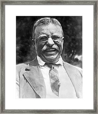 Theodore Roosevelt Laughing Framed Print