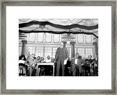 Theodore Roosevelt Speaking At National Framed Print by Everett