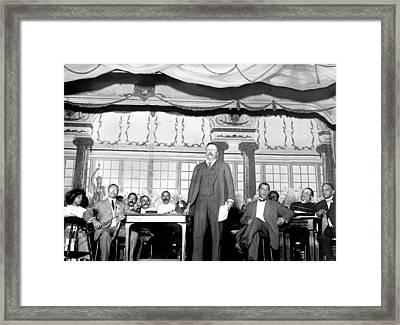 Theodore Roosevelt Speaking At National Framed Print