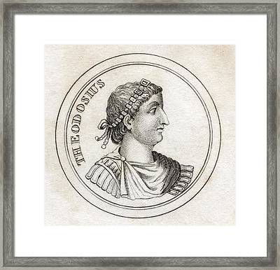 Theodosius The Great Flavius Theodosius Framed Print by Vintage Design Pics