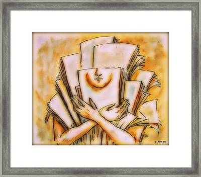 Theory 1 Framed Print by Paulo Zerbato