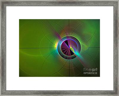 Theory Of Green - Abstract Art Framed Print by Sipo Liimatainen
