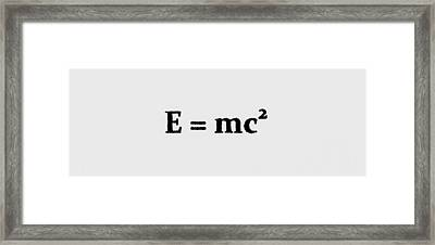 Theory Of Relativity B 3 Framed Print
