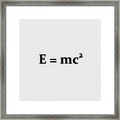 Theory Of Relativity B Framed Print
