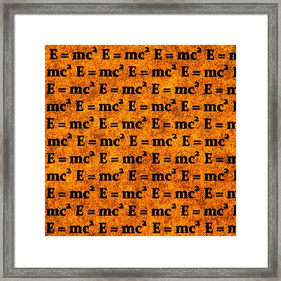 Theory Of Relativity Framed Print
