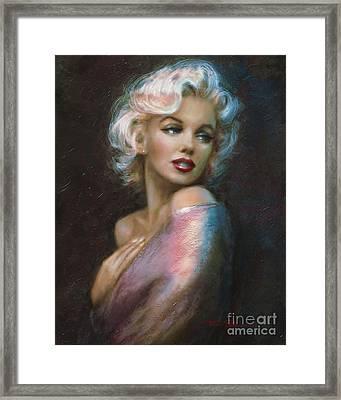 Theo's Marilyn Ww Blue Framed Print
