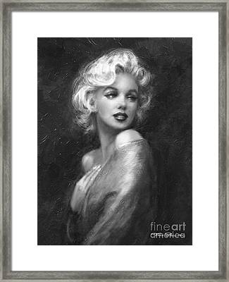 Theo's Marilyn Ww Bw Framed Print