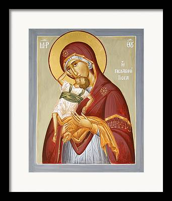 Theotokos Pelagonitisa Framed Prints
