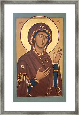 Theotokos Framed Print by Phillip Schwartz
