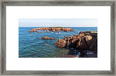 Framed Print featuring the photograph Theoule-sur-mer by Ron Dubin