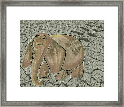 There Are No Peanuts Here Framed Print by Laura Brightwood