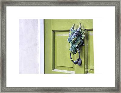 There Be Dragons Inside Framed Print by Tim Gainey