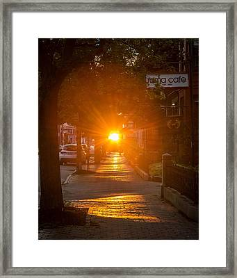 There Goes The Sun Framed Print