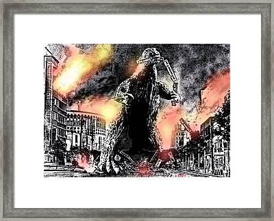 There Goes Tokyo Framed Print
