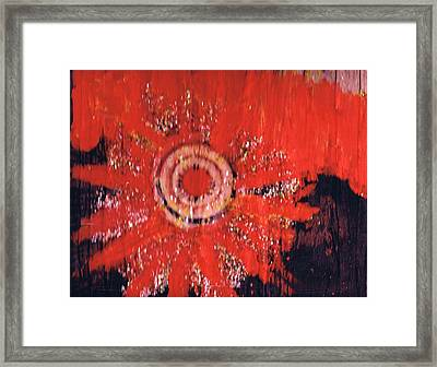 There Is A Bad Wolf On The Rise Framed Print by Anne-Elizabeth Whiteway