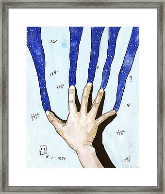 There Is A Whole Universe Outside The Walls Framed Print by Edwin Alverio