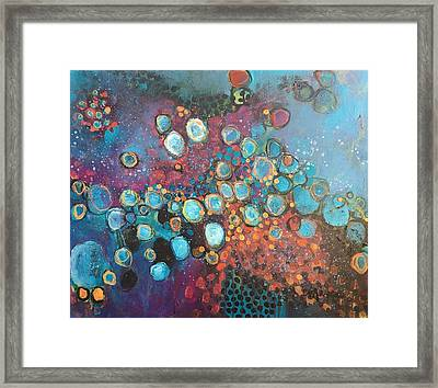 Framed Print featuring the painting There Is Great Gratitude In The Reckoning by Laurie Maves ART