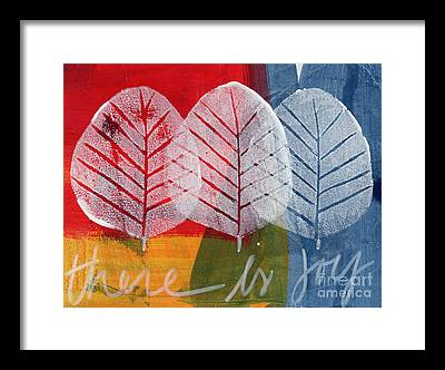 Leaf Paintings Framed Prints