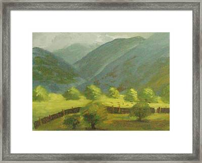 Framed Print featuring the painting There Is Mist Up Here by Trilby Cole