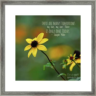 There Is Only One Today Framed Print
