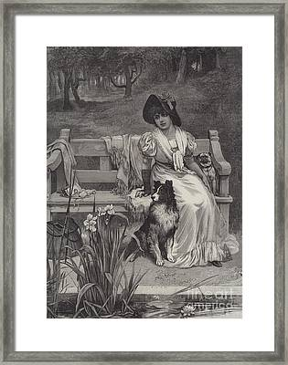 There Is Room For Two Framed Print by Frederick Morgan