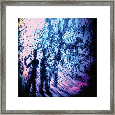 There Is Something In The Woods Framed Print by Jordan Kotter