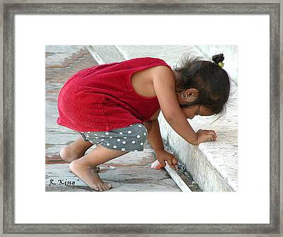 Framed Print featuring the photograph There It Is. by Roena King