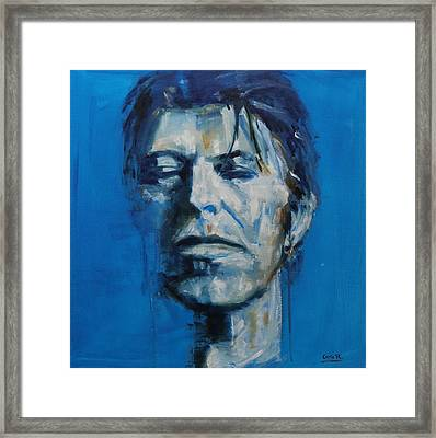There S A Starman Waiting In The Sky Framed Print