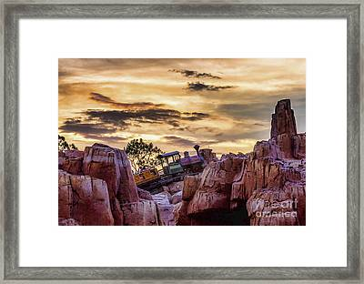 There She Goes Framed Print