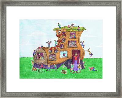 There Was An Old Woman Framed Print by Kerina Strevens