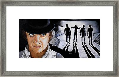 There Was Me That Is Alex And My Three Droogs Framed Print