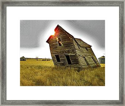 There Was Once A Crooked House Framed Print